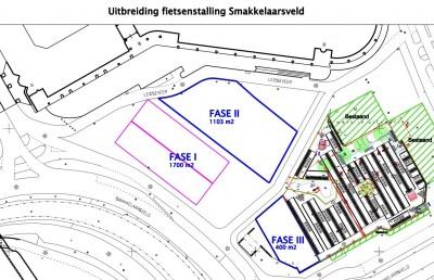 Uitbreidingen fietsenstallingen Smakkelaarsveld