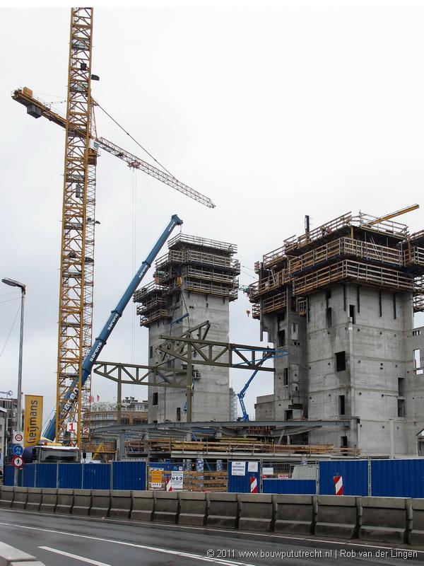 Plaatsen staalconstructie popzaal