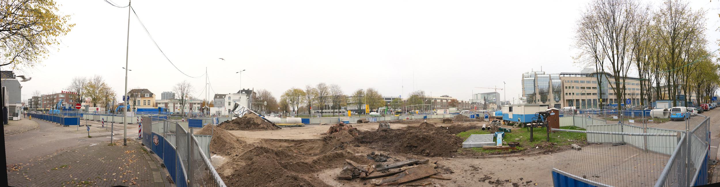 Panorama bouwplaats Paardenveld