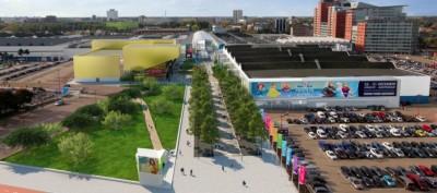 Ontwerp toekomstige boulevard, met links de bioscoop (bron: BGSV)
