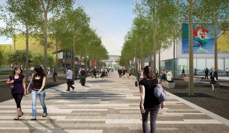Ontwerp straatniveau Centrumboulevard