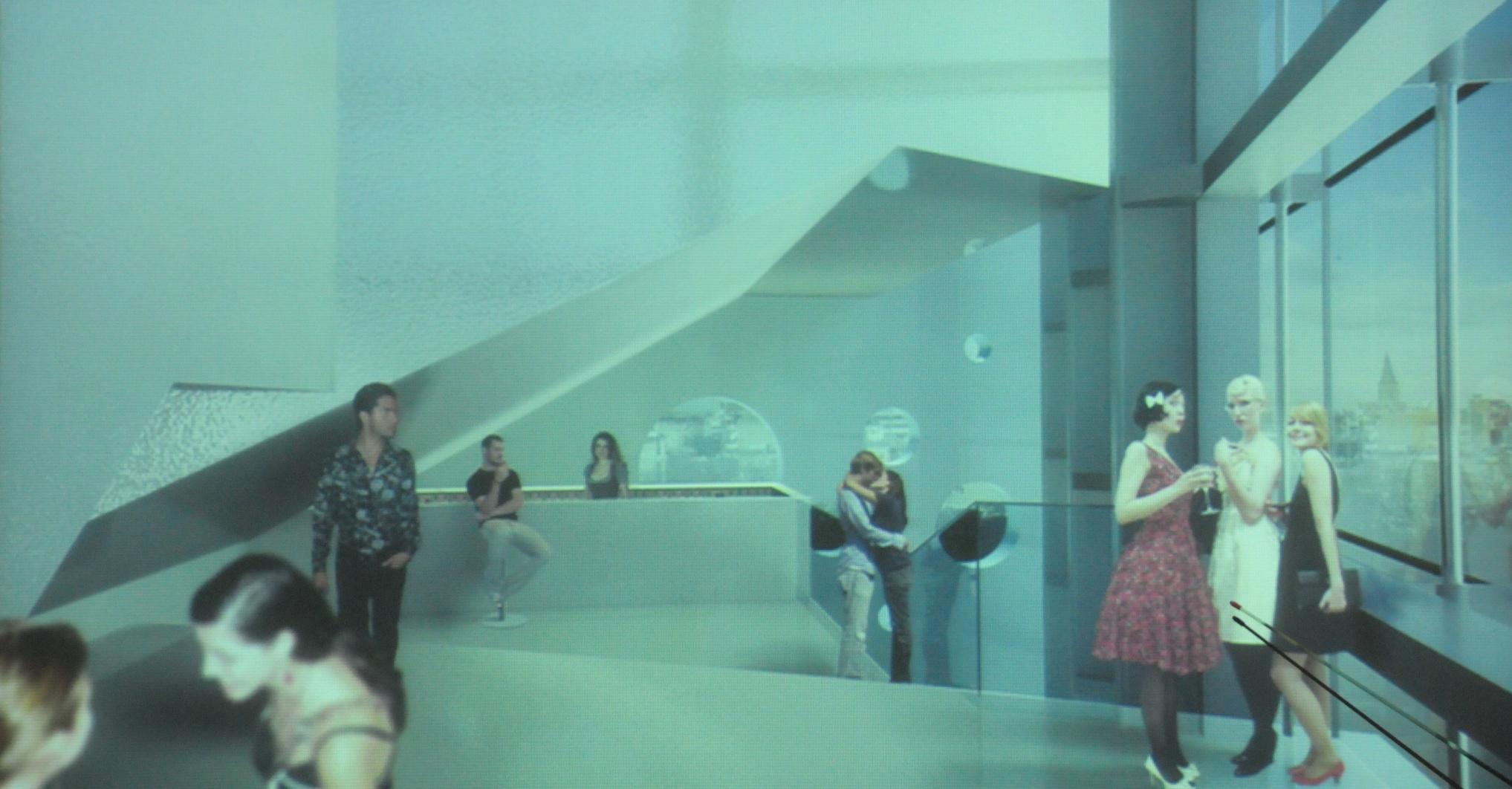 Muziekpaleis: een van de vele foyer-ruimten