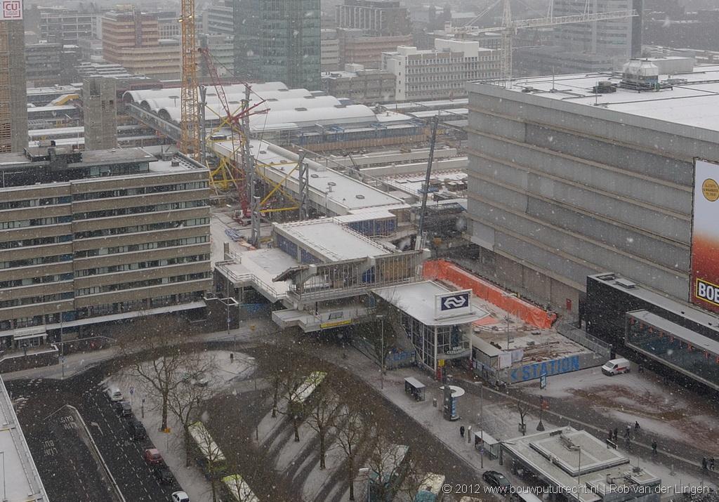 Stationsplein West in aanbouw