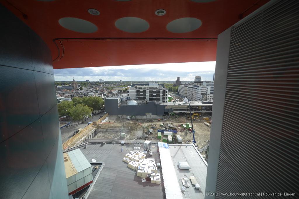 Zicht vanaf 9e verdieping